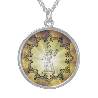 Fierce Goddess Athena! Sterling Silver Necklace