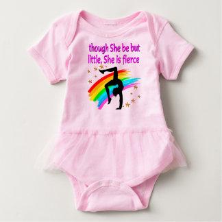 FIERCE LITTLE GYMNASTICS GIRL BABY BODYSUIT