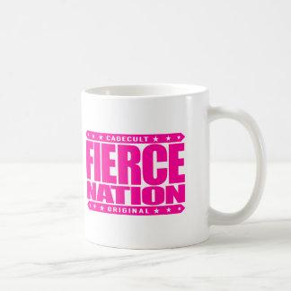 FIERCE NATION - We Are Fearless Patriotic Warriors Basic White Mug