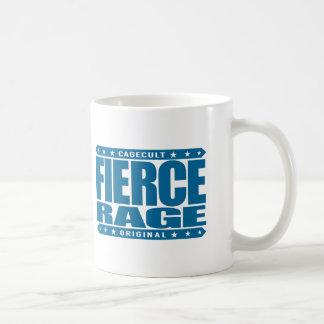 FIERCE RAGE - Fearless Warrior of Chimp Aggression Basic White Mug