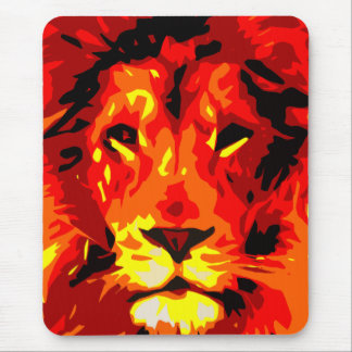 Fierce Red Lion Mouse Pad