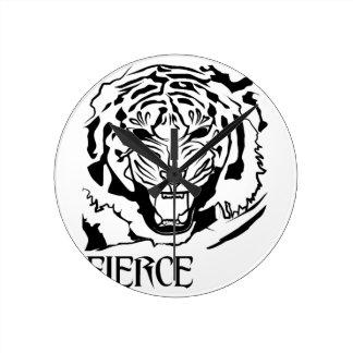 fierce round clock