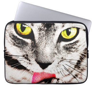 Fierce Tabby Cat Laptop Sleeve