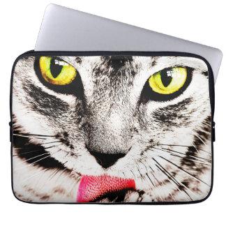 Fierce Tabby Cat Laptop Sleeve