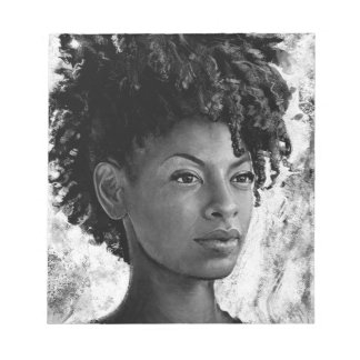 Fierce - Textured Portrait of a Black Woman Notepads