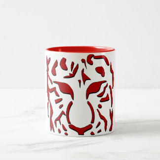 Fierce Tiger Mug in Red