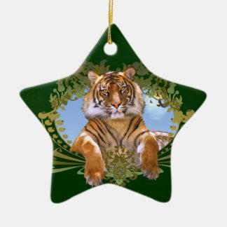 Fierce Tiger Rawr! Ceramic Ornament