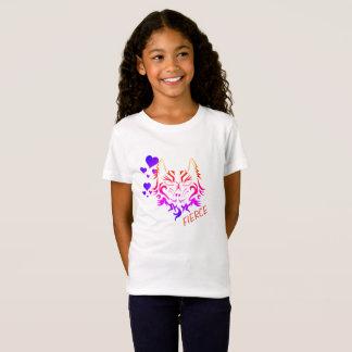 fierce tiger tattoo print for kids shirt