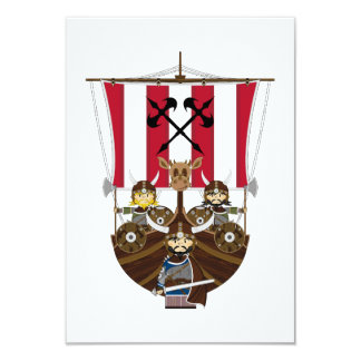 Fierce Vikings on Longship RSVP Card
