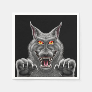 Fierce Werewolf Paper Party Napkins Paper Napkins