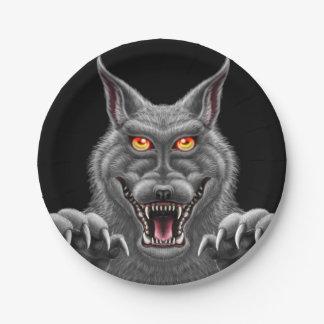Fierce Werewolf Paper Party Plates 7 Inch Paper Plate