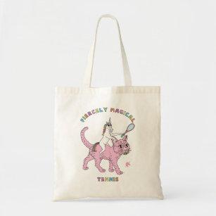 65f2d92043d Fiercely Magical Tennis Unicorn Riding Cat Tote Bag