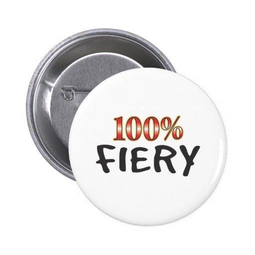 Fiery 100 Percent Pinback Button