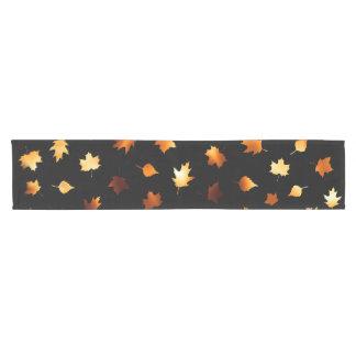 Fiery Autumn Leaves Short Table Runner