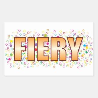 Fiery Bubble Tag Rectangular Sticker