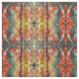Fiery Color Pattern Fabric