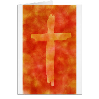Fiery Cross Blank Card