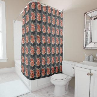 Fiery Dahlia Shower Curtain