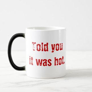 """Fiery Devil's Head """"Told you it was hot"""" Magic Mug"""