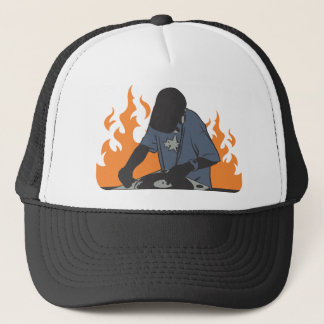Fiery Dj Trucker Hat