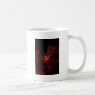 fiery dragon basic white mug