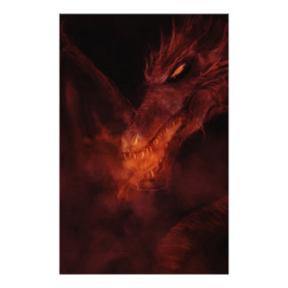 fiery dragon stationery paper