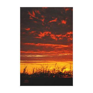 Fiery Evening Sky. Canvas Print