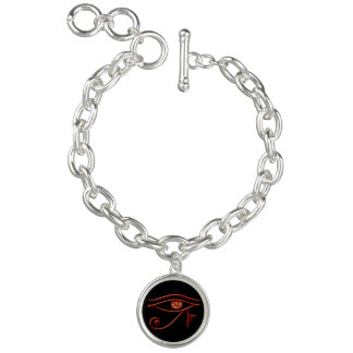 Fiery Eye Of Horus Charm Bracelet