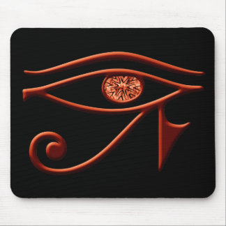 Fiery Eye Of Horus Mouse Pad