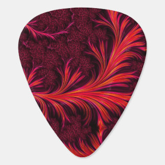 Fiery Fractal Guitar Picks
