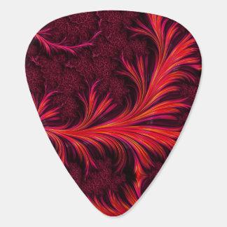 Fiery Fractal Guitar Picks Plectrum