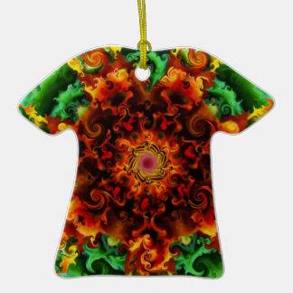 Fiery Garden Ceramic T-Shirt Decoration