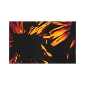Fiery girl eyes canvas print