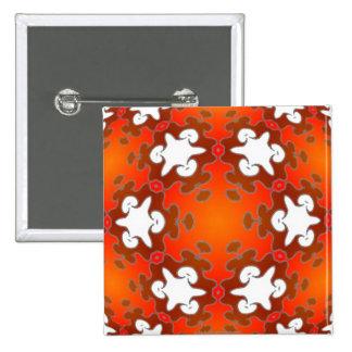 Fiery Goodness Kaleidoscope Mandala Pinback Button