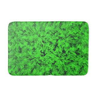 Fiery Green Bath Mats