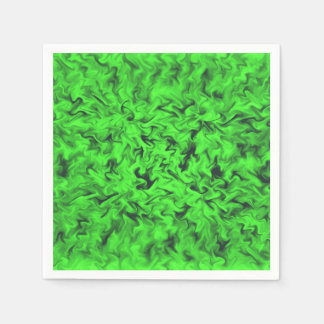 Fiery Green Disposable Napkins