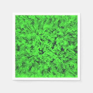 Fiery Green Disposable Serviette