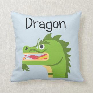 Fiery Green Dragon Cushion