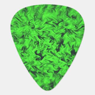 Fiery Green Guitar Pick