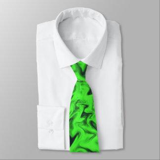 Fiery Green Tie