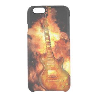 Fiery guitar clear iPhone 6/6S case