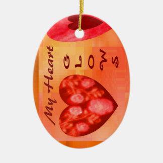 Fiery Hearts Glow Ornaments