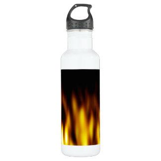 Fiery Hot Flames Backdrop 710 Ml Water Bottle