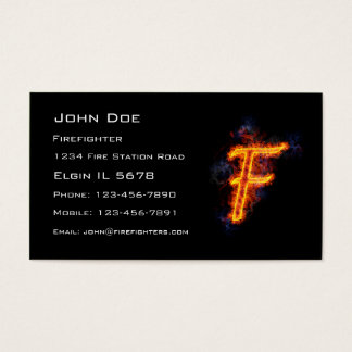 Fiery Letter F Business Card