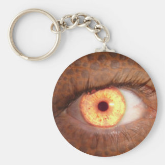 Fiery Mutant Eye Mouse Pad Basic Round Button Key Ring