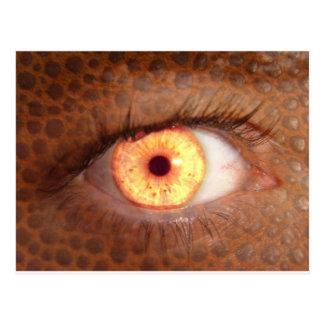 Fiery Mutant Eye Mouse Pad Postcard