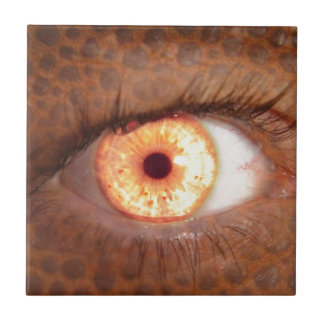 Fiery Mutant Eye Mouse Pad Small Square Tile