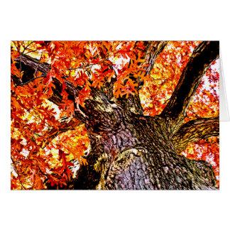Fiery Oak Note Card