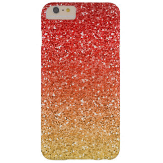 Fiery Ombre with Glitter Effect Barely There iPhone 6 Plus Case