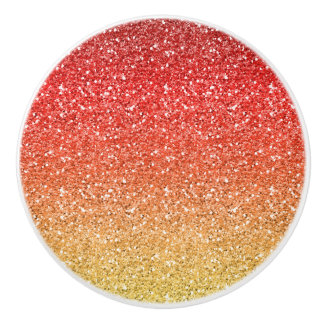 Fiery Ombre with Glitter Effect Ceramic Knob